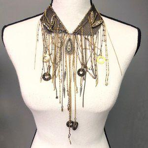 Erickson Beamon Goldtone Statement Collar Necklace